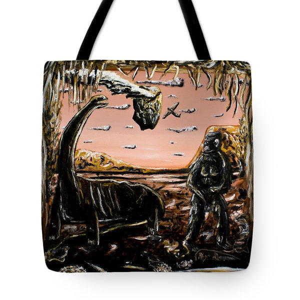 Tote Bag featuring the painting Abiogenesis  by Ryan Demaree