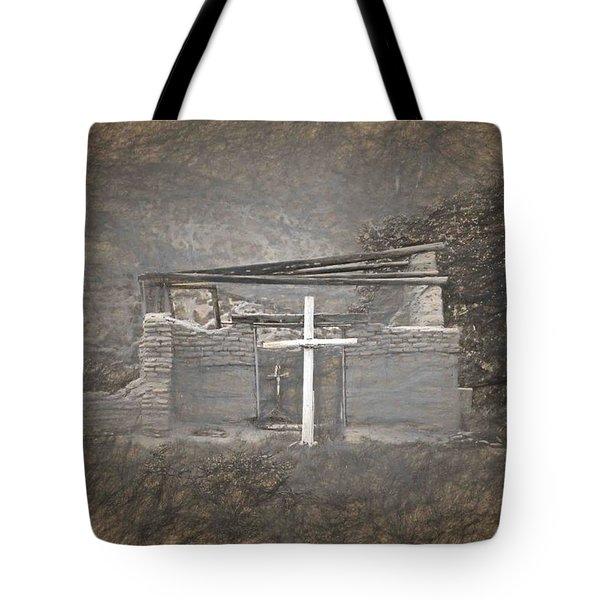 Abiquiu Nm Church Ruin Tote Bag