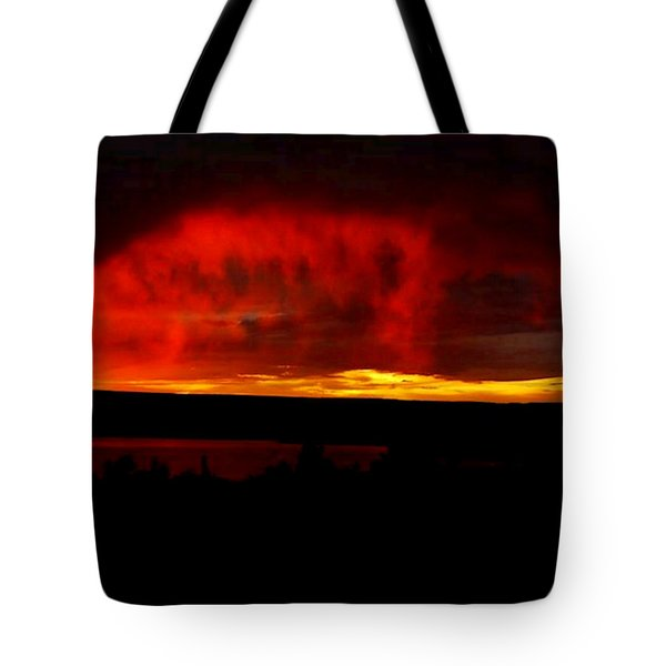 Tote Bag featuring the painting Abiquiu Reservoir  by Dennis Ciscel