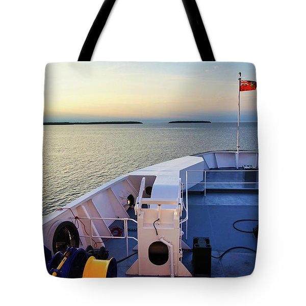Aboard The Chi-cheemaun Tote Bag