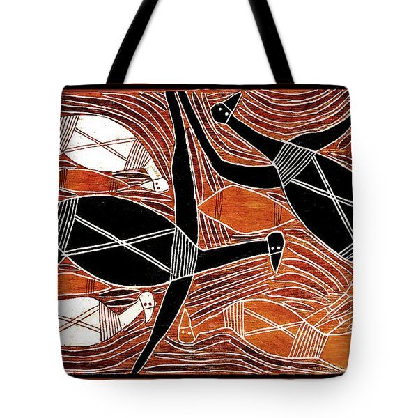 Aboriginal Birds Tote Bag