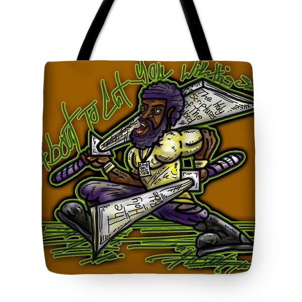 About To Cut You With This Sword Tote Bag