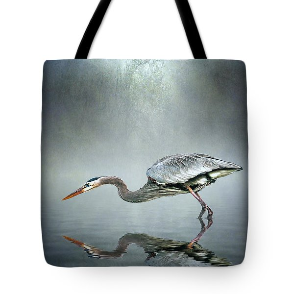 Tote Bag featuring the photograph About To Strike by Brian Tarr