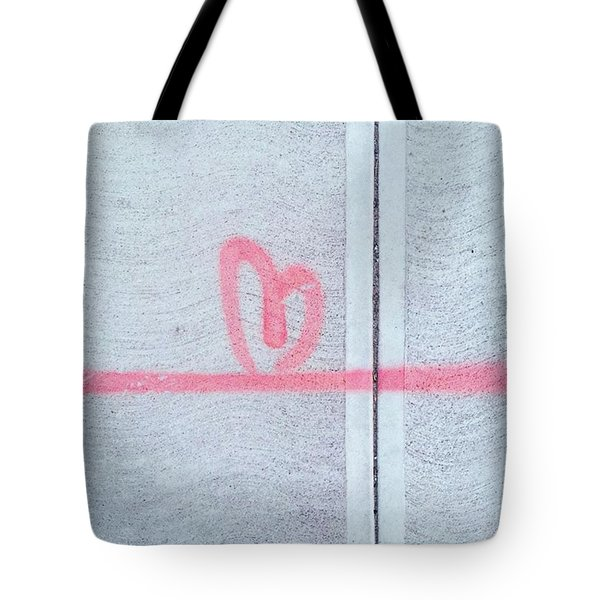 Above All Else, #love Tote Bag
