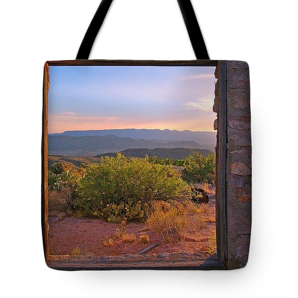 Above Lajitas Tote Bag by Kerry Beverly