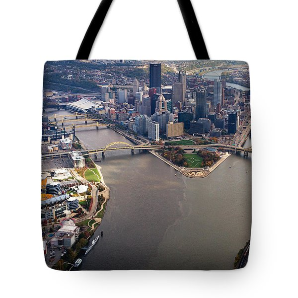 Above Pittsburgh In  Color  Tote Bag