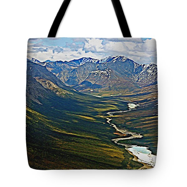 Tote Bag featuring the painting Above The Arctic Circle by John Haldane