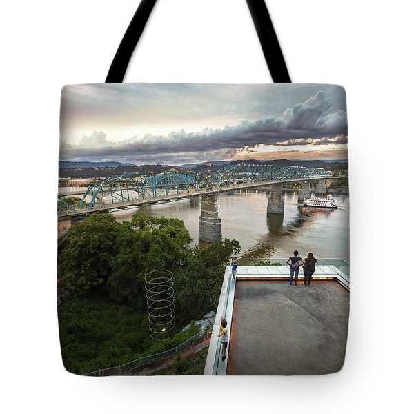 Above The Bluff, Musuem View Tote Bag