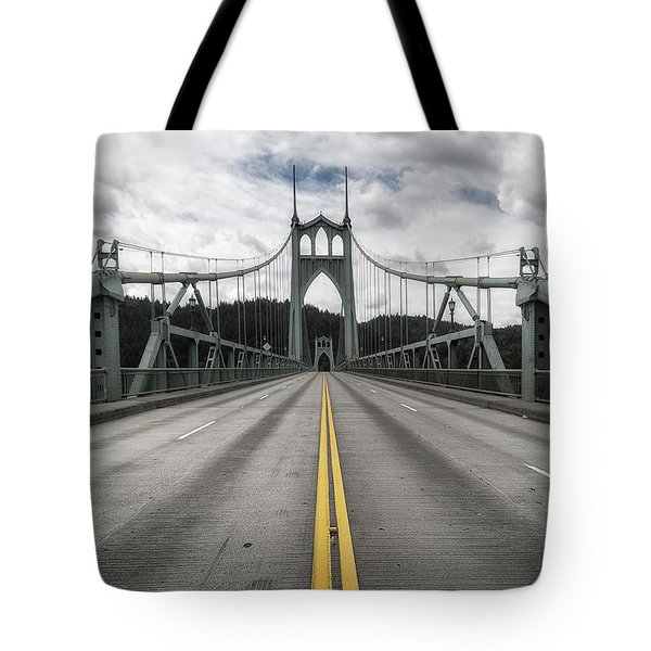 Above The Cathedral Tote Bag by Ryan Manuel