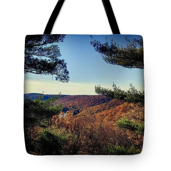 Above The Clarion River Tote Bag