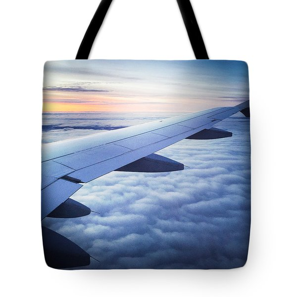 Above The Clouds 01 Tote Bag by Matthias Hauser
