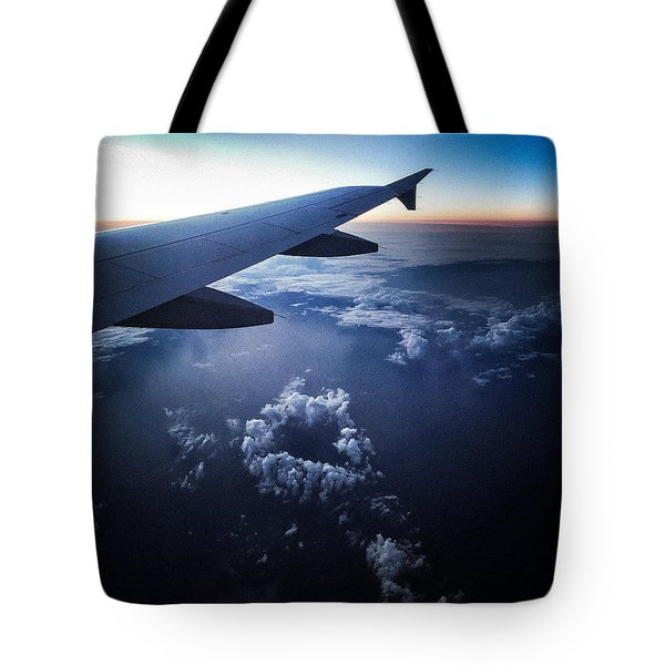 Above The Clouds 02 Heart Cloud Tote Bag by Matthias Hauser