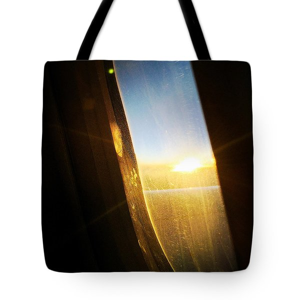 Above The Clouds 05 - Sun In The Window Tote Bag by Matthias Hauser