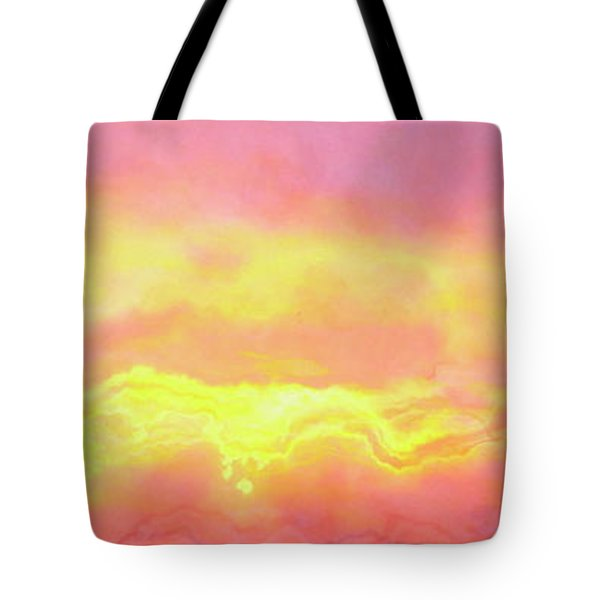 Above The Clouds - Abstract Art Tote Bag by Jaison Cianelli