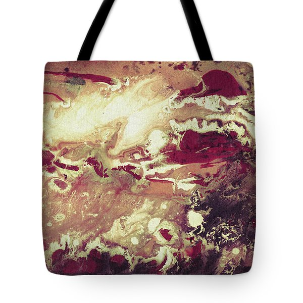 Above The Clouds - Contemporary Earth Tone Abstract Painting Tote Bag