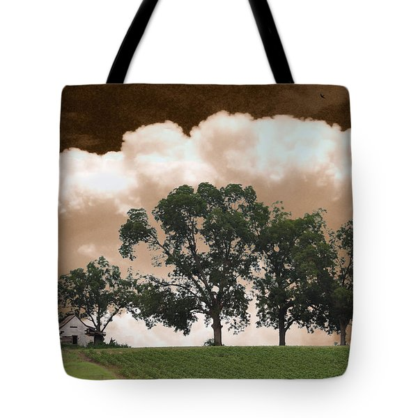 Above The Cotton Fields Tote Bag