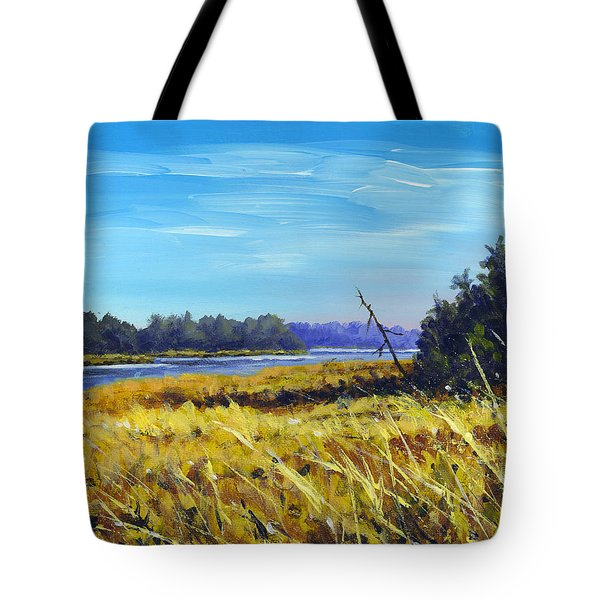 Above The Dam Sketch Tote Bag