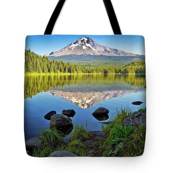 Above The Lake Tote Bag