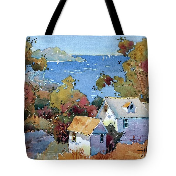 Above The Pacific Tote Bag