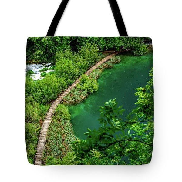 Above The Paths At Plitvice Lakes National Park, Croatia Tote Bag