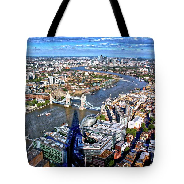Tote Bag featuring the photograph Above The Shadow Of The Shard by Jim Albritton