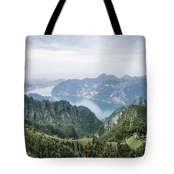 Above The Silver Lake Tote Bag