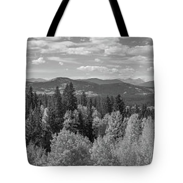 Above The Tree Tops Bw Tote Bag
