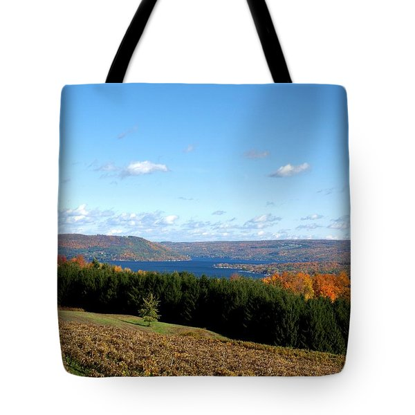 Above The Vines Tote Bag