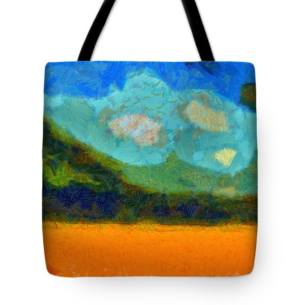 Above The Woods Tote Bag by Spyder Webb