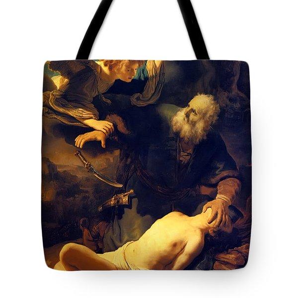 Abraham And Isaac Tote Bag
