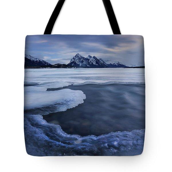 Abraham Lake Sans Bubbles Tote Bag