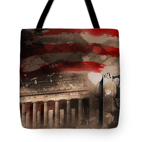 Tote Bag featuring the painting Abraham Lincoln by Gull G