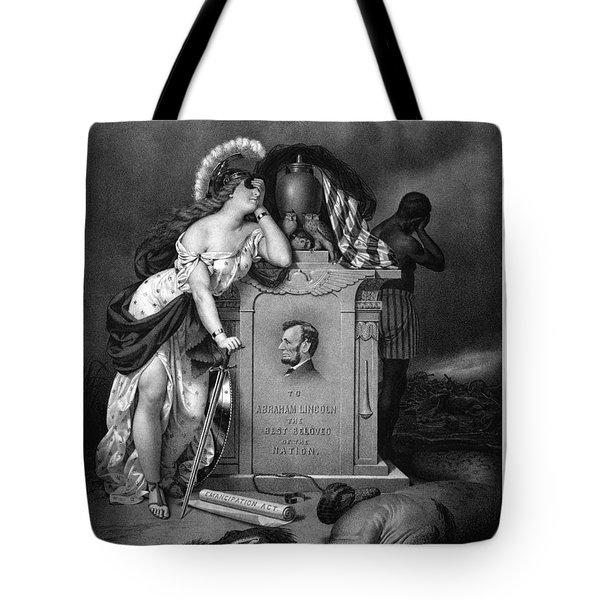 Abraham Lincoln In Memoriam  Tote Bag