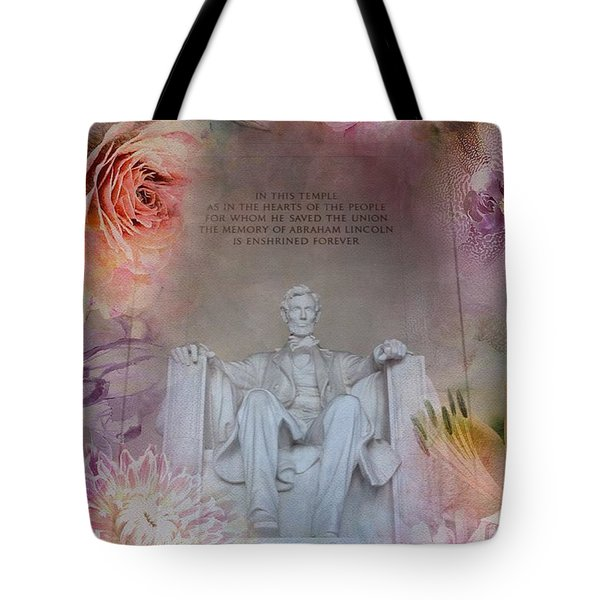 Abraham Lincoln Memorial At Spring Tote Bag