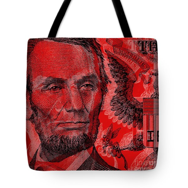 Abraham Lincoln Pop Art Tote Bag