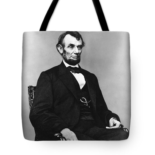 Abraham Lincoln Portrait - Used For The Five Dollar Bill - C 1864 Tote Bag by International  Images