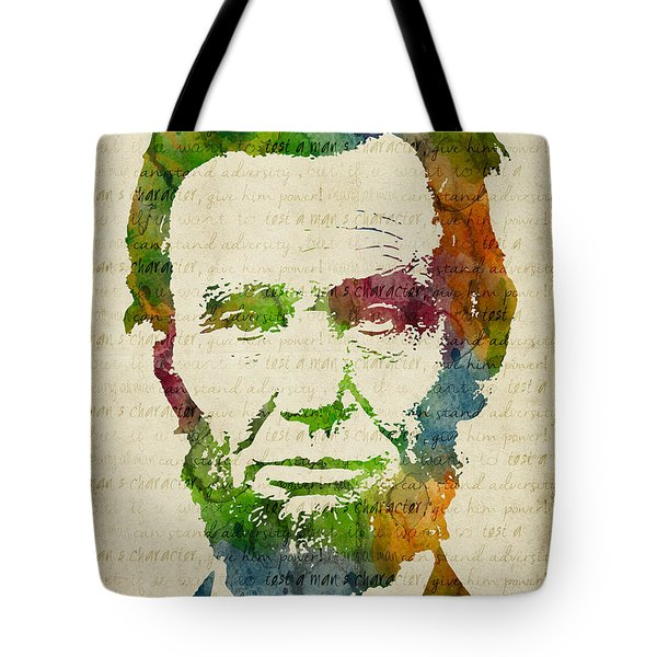 Abraham Lincoln Watercolor Tote Bag