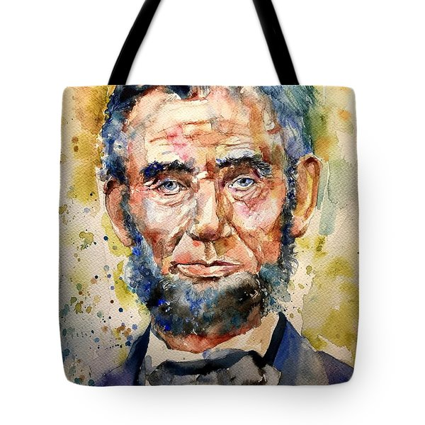 Abraham Lincoln Watercolor Tote Bag