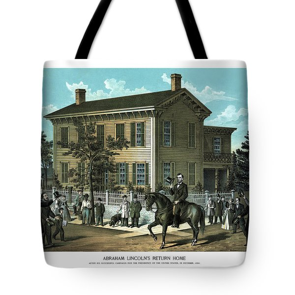 Abraham Lincoln's Return Home Tote Bag