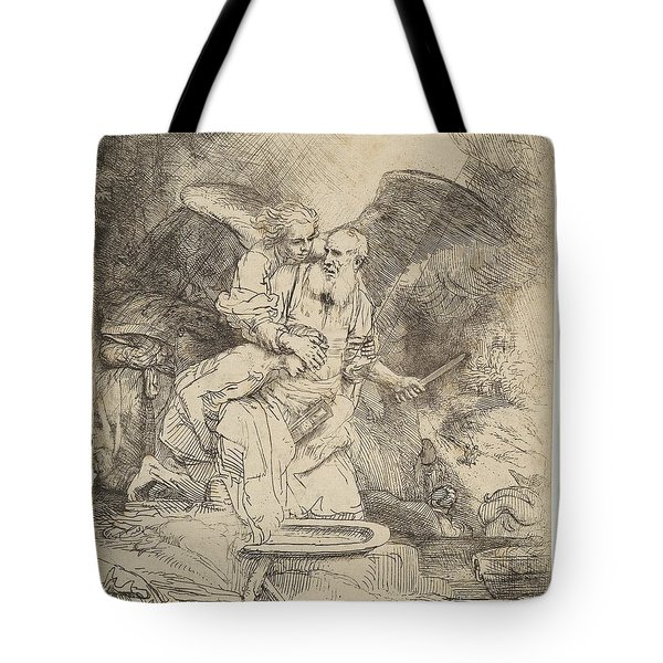 Abraham's Sacrifice Tote Bag