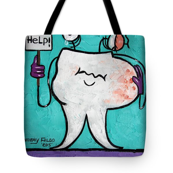 Tote Bag featuring the painting Abscessed Tooth by Anthony Falbo