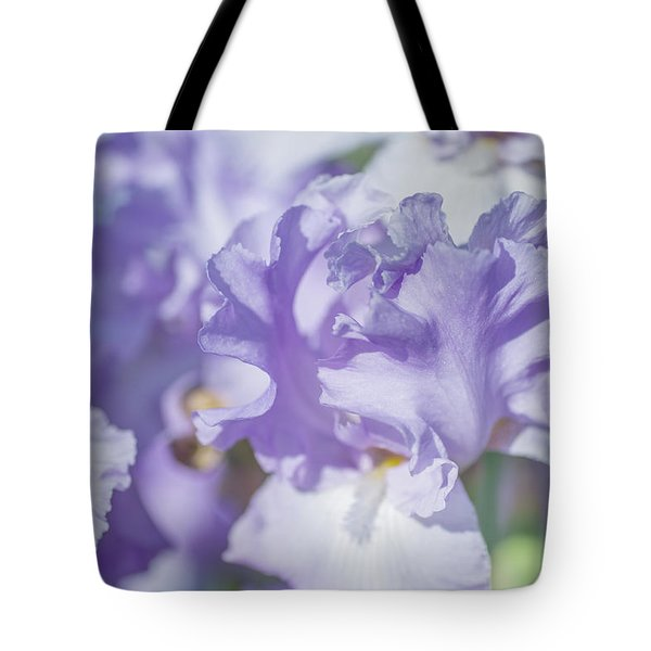 Absolute Treasure Closeup. The Beauty Of Irises Tote Bag