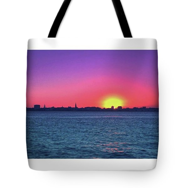 Absolutely Gorgeous Evening Over The Tote Bag