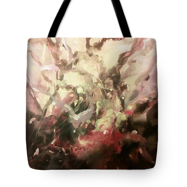 Tote Bag featuring the painting Abstract #01 by Raymond Doward