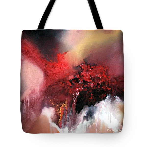 Tote Bag featuring the painting Abstract #02 by Raymond Doward