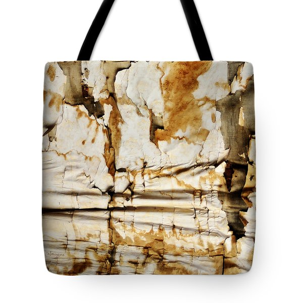 Tote Bag featuring the photograph Abstract 1317 Old Wallpaper As Landscape by Kae Cheatham