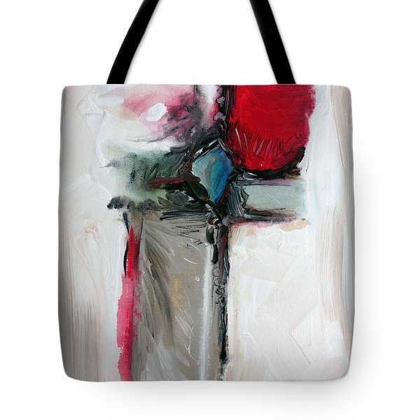 Tote Bag featuring the painting Abstract 200709 by Rick Baldwin