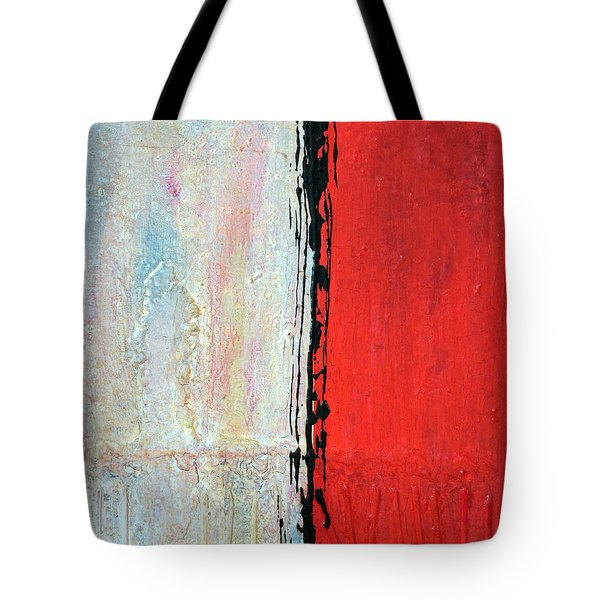 Tote Bag featuring the painting Abstract 200803 by Rick Baldwin