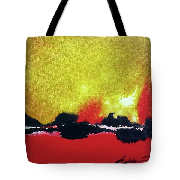 Tote Bag featuring the painting Abstract 201207 by Rick Baldwin
