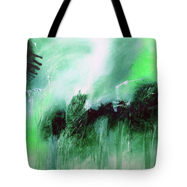Tote Bag featuring the painting Abstract 2013013 by Rick Baldwin